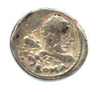 Hercules on Roman Republican denarius