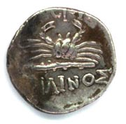 Crab on a Kos drachm diobol